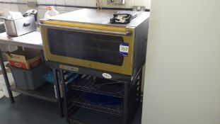 Unox XF180GB Commercial Convection Oven on Stand (2008) Serial Number 270, 240v. Located at Fresco's