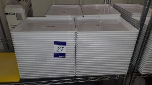 Approx. 100 x Melamine Platter Serving Plates 330 x 270. Located at The Great Little Catering