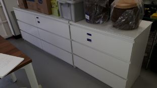 Twin Section Chest Drawer Unit with 9 Drawers (Exc