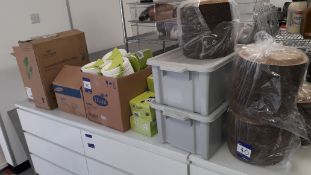 Quantity of Various Disposable Catering Consumables to include Plates, Bowls, Paper Cups, Cutlery