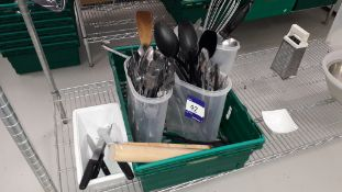 Small Quantity of kitchen utensils Located at The Great Little Catering Company Limited - Units 19-