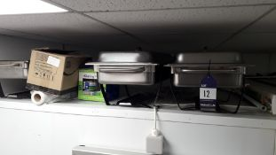 4 x Olympic Full Size Chaffing Dishes. Located at