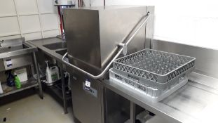 Classeq P500AWS Pass Through Dishwasher with fitte