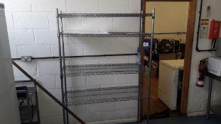 3 x Bays Adjustable Wire Shelving 1200mm. Located at Fresco's Hemel Hempstead Limited, Vitalia