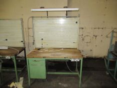 1x Steel Framed Wooden Top Work Station