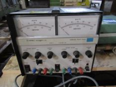 1x Farnell stabilised dual DC power supply