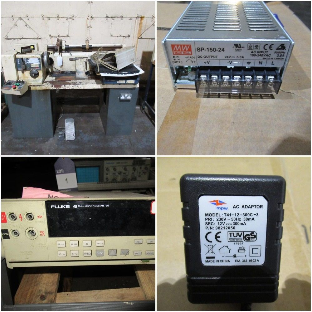 Major Disposal Auction of the MPW PSU Business inc Power Supplies, Transformer Winding, Electronic Components, Plastic Moulding Tools etc