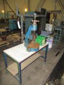 1x Sweeney & Blocksidge Fly Press with Steel Framed Work Bench