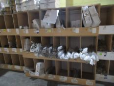 Contents to Wood Storage Unit to include White and Chrome Grab Rails – Various Sizes