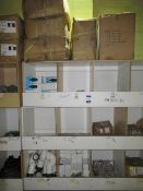 Contents to Wood Storage Unit to include Various Plumbing Fittings including Auto Flushing Syphon