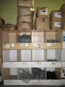 Contents to Wood Storage Unit to include Various Plastic Fittings including 32mm Straight