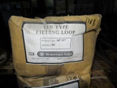 Approx. 50 Boxes x QTY 20 Combination Filling Loop Tee Type 15mm (Approx. 1000)