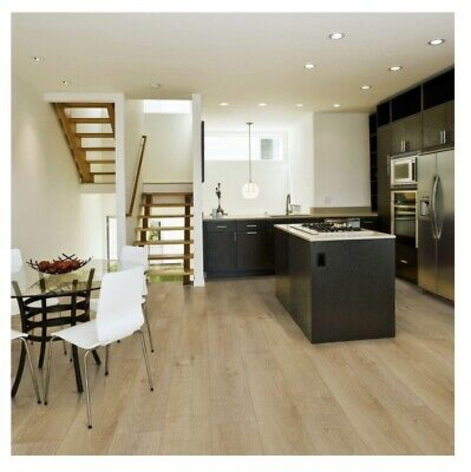 NEW 20M2 Milano oak effect Laminate flooring, 1.25m² Pack. This Overture laminate flooring offers - Image 2 of 3