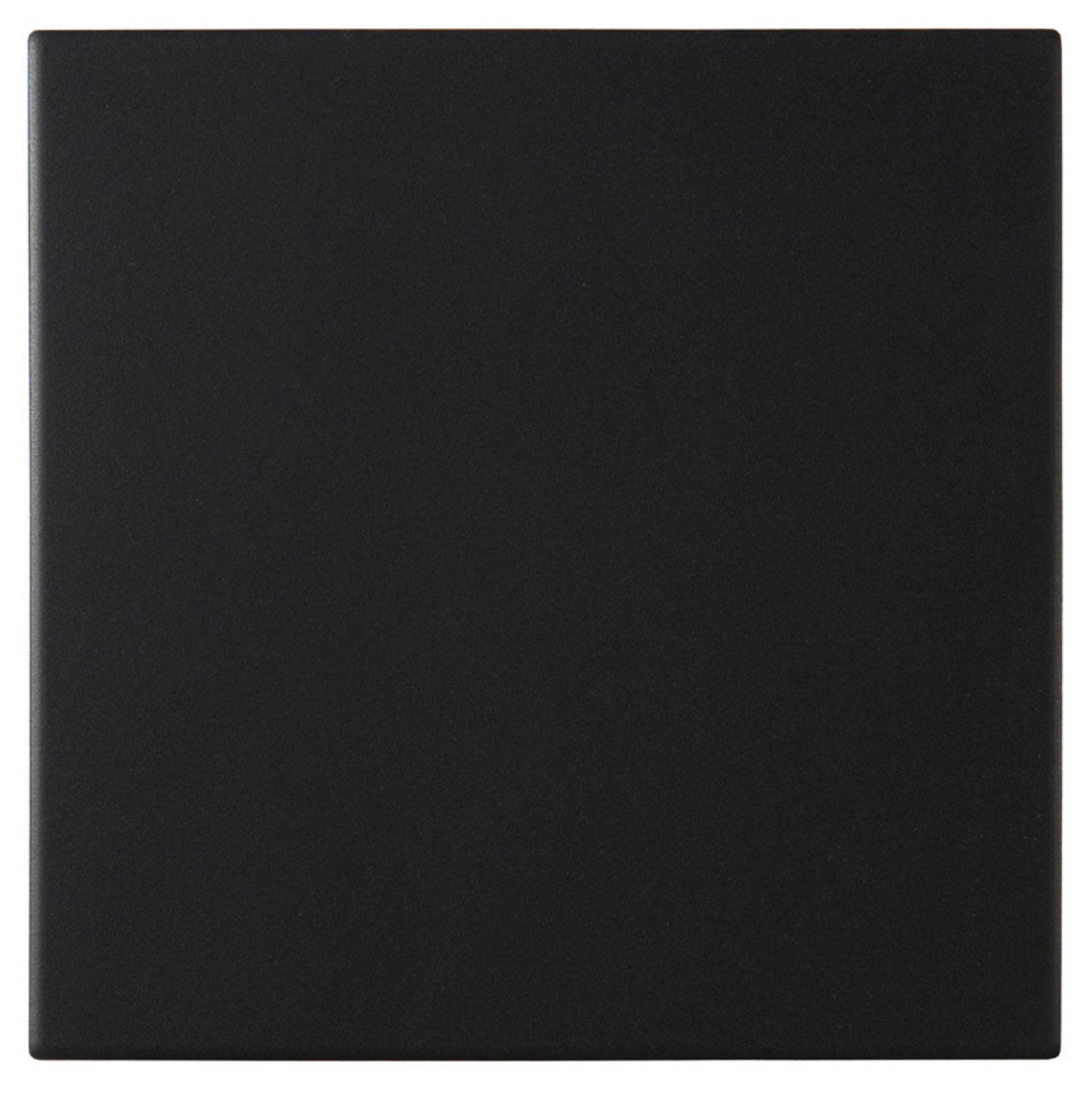 NEW 30.24M2 Pescaro Black Matt Plain Ceramic Wall & floor tile. 30x30cm per tile. Slip - Image 2 of 2