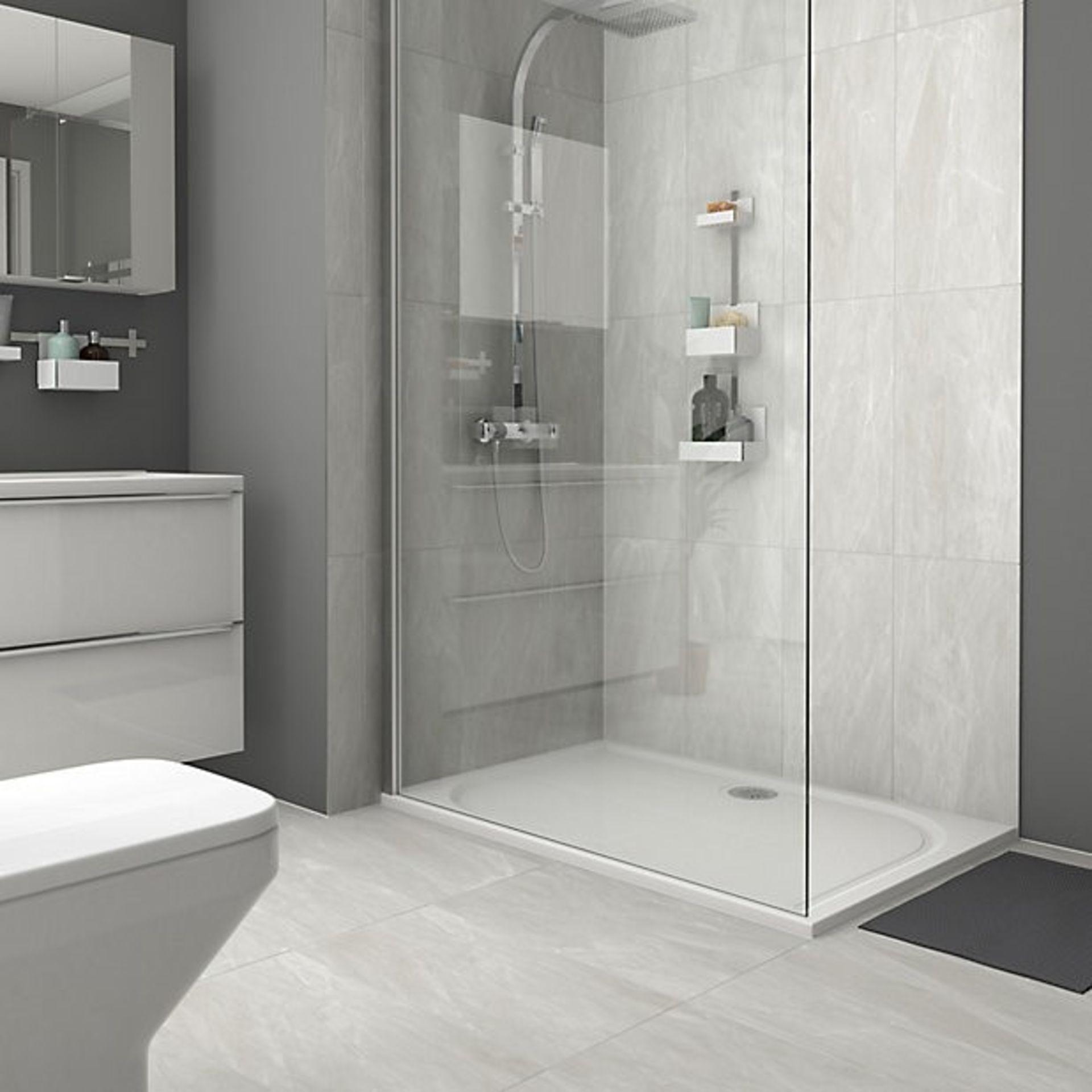NEW 30.24m2 Killington Light Grey Matt Marble effect Ceramic Floor tile. Room use: Any room,