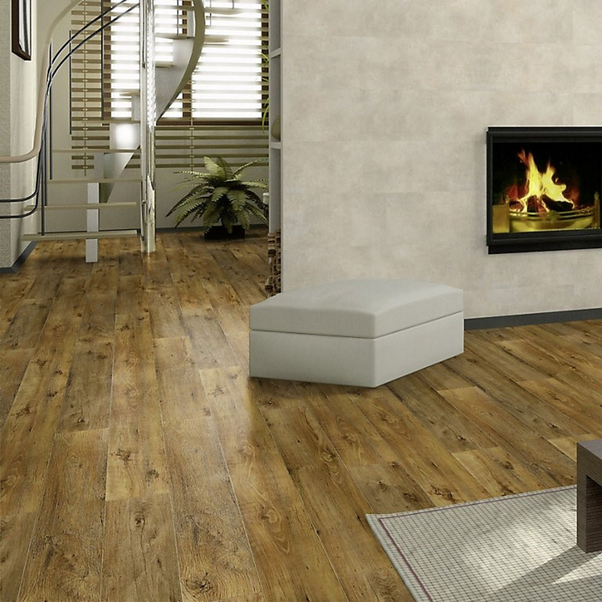 NEW 18.5M2 Arpeggio Tuscany Olive 2 Strip Effect Laminate Flooring. Drop lick fitting, 4 sided