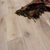 NEW 11.84M2 Soren Vintage Finish Solid Oak Flooring Antique Ash. 15mm thickness, 123x1200mm per