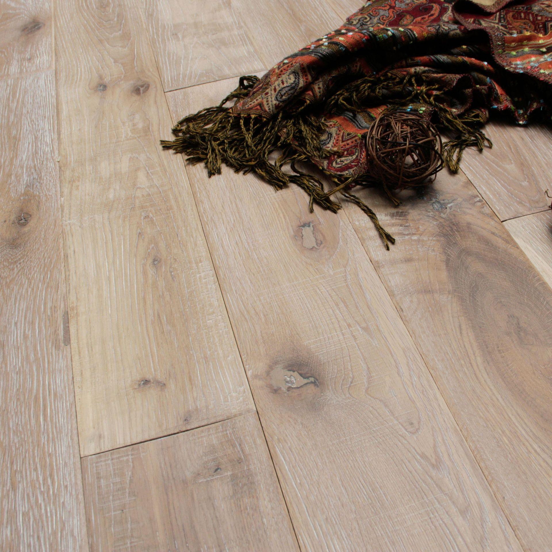 NEW 11.84M2 Soren Vintage Finish Solid Oak Flooring Antique Ash. 15mm thickness, 123x1200mm per