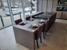 Pronorm Bronze kitchen island suite, comprising Qu