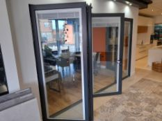 Showroom bi-fold door with integrated blinds, 3575 x 2120 (purchaser responsible to ensure safe