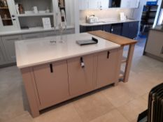 1909 Dry Rose kitchen island suite (Approx 1620 x