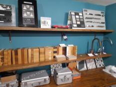 4 x Assorted wooden shelves