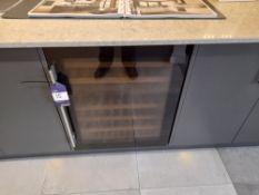 Caple integrated dual zone glazed wine cooler unit