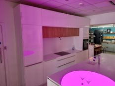 White Pronorm kitchen suite (Approx 3670 x 590 x 2