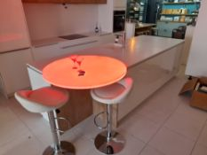 White Pronorm kitchen island suite (Approx 3080 x