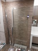 Contemporary Resin shower tray with Wetroom panel with tempered safety glass*Purchasers