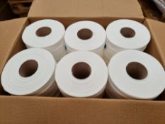PALLET TO CONTAIN 52 x NEW BOXES OF 12 CENTRE FEED TOILET ROLLS (624 ROLLS TOTAL). RRP £22 PER BOX
