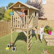 Bloom Wooden Playhouse. This is an ideal addition to your garden for your children to play in all