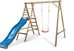 Bloom Wooden Swing set. This swing set will provide hours of fun for your child. Comes with Comes