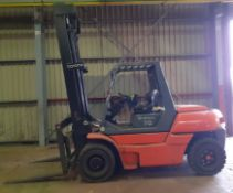 Toyota 50-5FD70D 7000kg Forklift Truck, max height 4.8m Serial Number 50SFD7OE3025 (2012) fitted