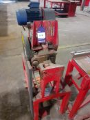 La Roche LRC32 MK2 Rebar Cropping Line Machine No. 5559 LRC32 MK2 400v with Roller Feed Table,