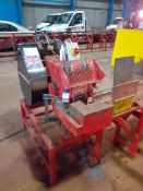 La Roche LRC50 Rebar Cropping Line Machine No. 5653 LRC50 400v 50Hz with Roller Feed Table, 9000mm &