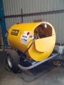 Fuel Proof Steel Double Skinned Towable Fuel Bowser, Serial Number 7834 (06/09) fitted Manual Fuel