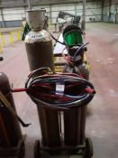 Oxy Acetylene Cutting Set with Bottle Trolley (Bottles not included)
