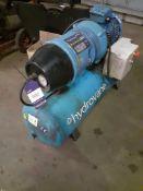 Hydrovane HV02 502PURS10-435D400 Compressor on Horizontal Receiver, Serial Number 502-042793-1005