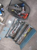 Qty of Spanners, Toolbox and Hand tools