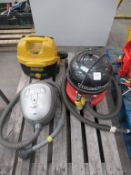 3x Various Vacuum Cleaners