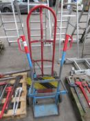 Steel Fabricated Sack Cart and Small 2 Bottle Cart