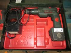 Metabo BEAK 92/R cordless drill with charger in case