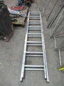 16 Rung Aluminium Double Ladder