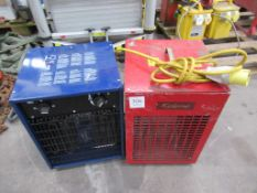 2 Various Electrical Fan Heaters 110 Volts