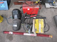 Ferm Concept 210 Arc Welder, Two Welding Masks, ESAB Electrodes etc.