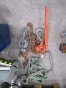 CM 1½ Tonne Puller with Lifting Hook 'D' Shackle and Lifting Strap