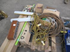 Pallet to contain qty of Sodium Lamps, LED Tubes, 110V Extension Cable etc.