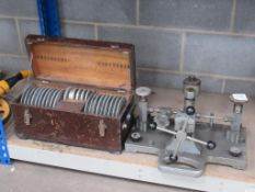 Smiths Industries Industrial Dead Weight Tester with Case of Complete Weights