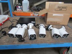 Redlink CCTV Recorder with 6 x cameras (condition unknown)
